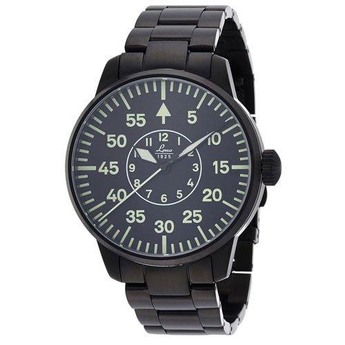 ラコ 腕時計 国内正規品 シドニー 861890 Laco21系自動巻 ブラック×ブラックステンレススチールベルト