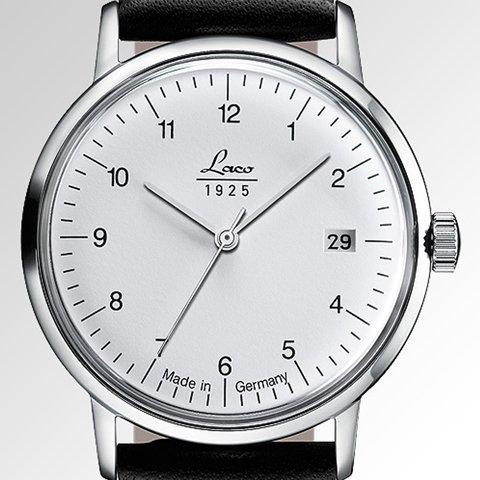 ラコ 腕時計 国内正規品 ヴィンテージ 861833 Laco15系自動巻ムーヴメント ブラックレザーベルト
