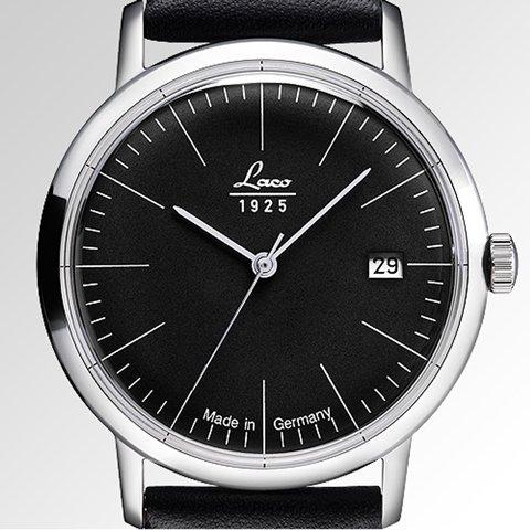 ラコ 腕時計 国内正規品 ヴィンテージ 861838 Laco15系自動巻ムーヴメント ブラック×ブラックレザーベルト