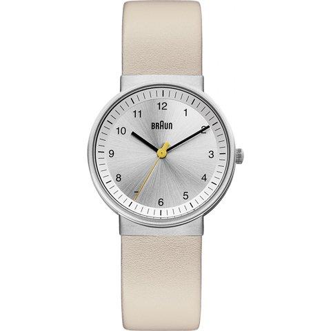 ブラウン|Braun 時計/BN0031SLBGL/シルバー×クリームレザーベルト