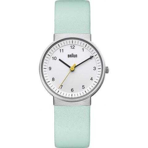 ブラウン|Braun 時計/BN0031WHTQL/ホワイト×パールミントグリーンレザーベルト