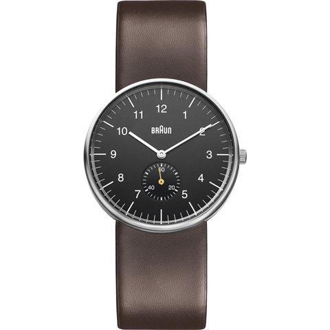 ブラウン Braun 時計/BN0024BKBRG/スモールセコンド/ブラック×ダークブラウンレザーベルト