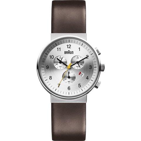 ブラウン|Braun 時計/BN0035SLBRG/クロノグラフ/シルバー×ダークブラウンレザーベルト