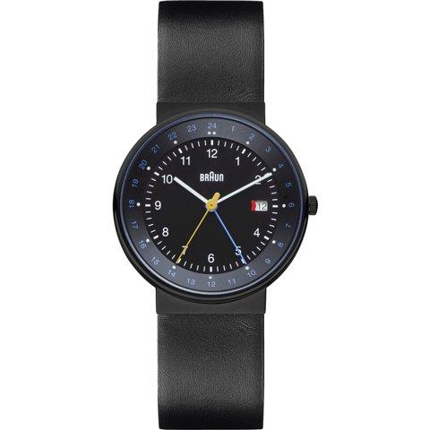 ブラウン Braun 時計/BN0142BKBKG/GMT/ブラック×ブラックレザーベルト