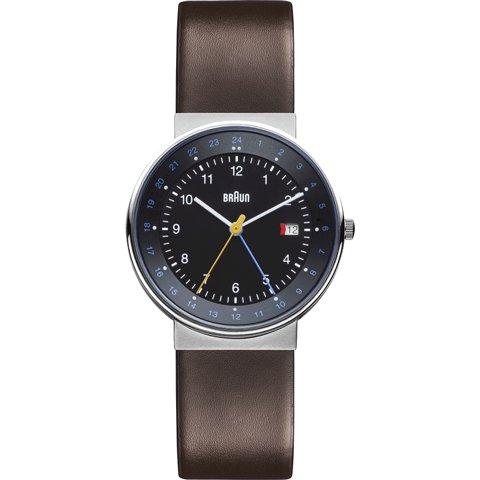 ブラウン|Braun 時計/BN0142BKBRG/GMT/ブラック×ダークブラウンレザーベルト