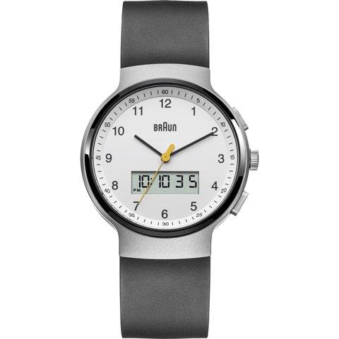 ブラウン|Braun 時計/アナデジ/BN0159WHBKG/ホワイト×ブラックラバーベルト