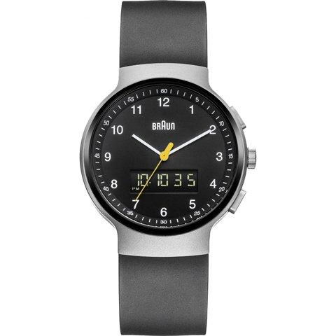 ブラウン|Braun 時計/アナデジ/BN0159SLBKBKG/ブラック×ブラックラバーベルト