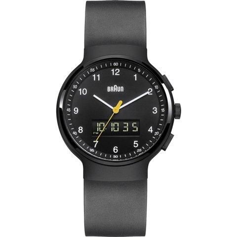 ブラウン|Braun 時計/アナデジ/BN0159BKBKG/ブラックカーボン×ブラックラバーベルト