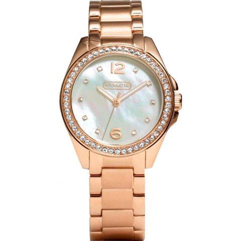 コーチ 腕時計 トリステン 14501658 ホワイトマザーオブパール×ローズゴールド