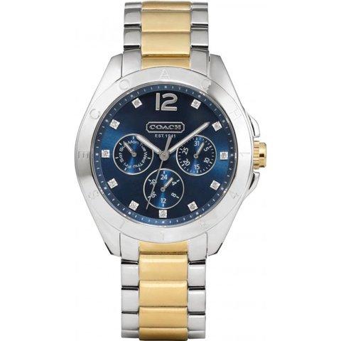 コーチ 腕時計 トリステン 14501889 ブルー×ツートン