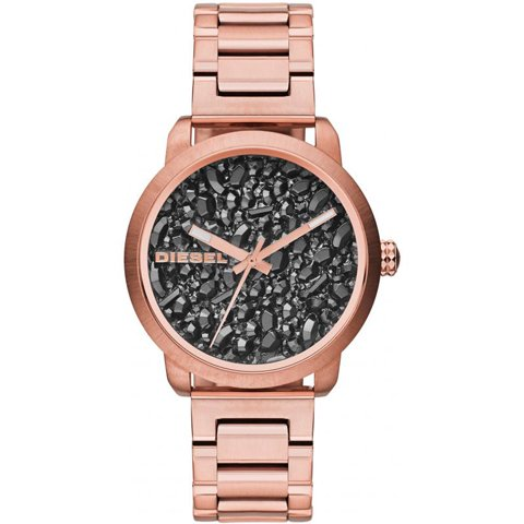 ディーゼル 腕時計 レディース フレア DZ5427 ブラックストーン×ローズゴールド
