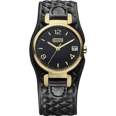 バブアー インターナショナル 腕時計 ヘイリー BB001BKBK ブラック×ゴールド