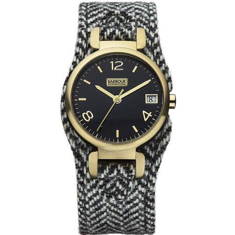 バブアー インターナショナル 腕時計 ヘイリー BB001GDH ブラック×ブラックファブリック