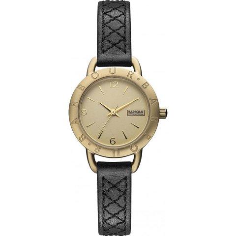 バブアー インターナショナル 腕時計 ベルセイ BB009GDBK ゴールド×ブラックレザー