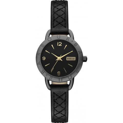 バブアー インターナショナル 腕時計 ベルセイ BB009GNBK ブラック×ブラックレザー