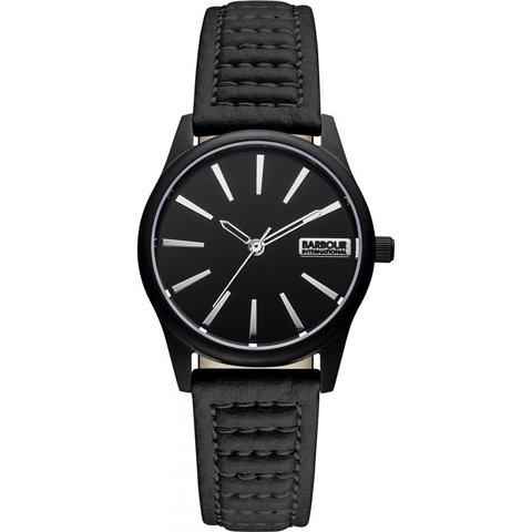 バブアー インターナショナル 腕時計 ビューイック BB010BKBK ブラック×ブラックレザー