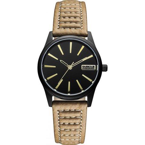 バブアー インターナショナル 腕時計 ビューイック BB010GNBG ブラック×ブラウンレザー
