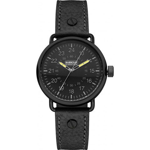 バブアー インターナショナル 腕時計 ファウラー BB022BKBK ブラック×ブラックレザー