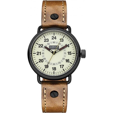 バブアー インターナショナル 腕時計 ファウラー BB022GDBR アイボリー×ブラウンレザー