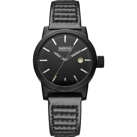 バブアー インターナショナル 腕時計 ホールステッド BB024BKBK ブラック×ブラックレザー