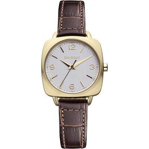 バブアー 腕時計 キャップマン BB003GDBR シルバーゴールド×ブラウンレザーベルト