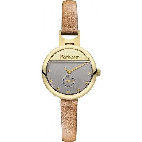 バブアー 腕時計 ホートン BB005GDBG ゴールド×シルバー×ブラウンレザー