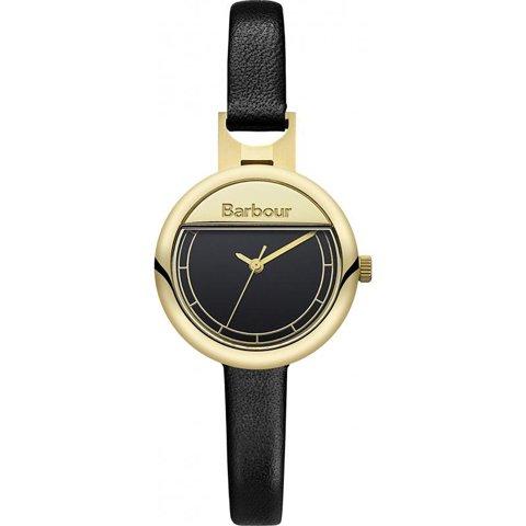 バブアー 腕時計 ホートン BB005GDBK ブラック×ゴールド×ブラックレザーベルト