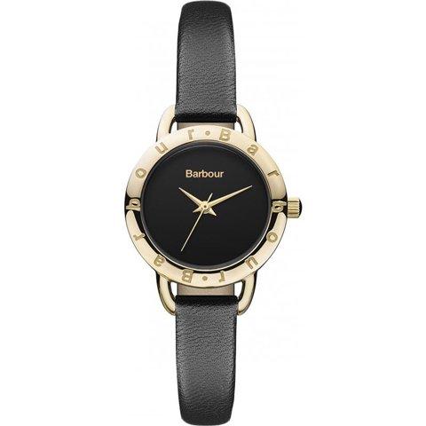 バブアー 腕時計 リズモア BB009BKBK ブラック×ゴールド×ブラックレザーベルト
