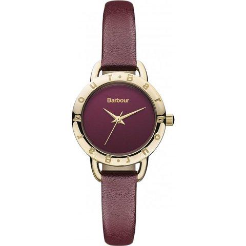 バブアー 腕時計 リズモア BB009BYBY パープル×ゴールド×パープルレザーベルト