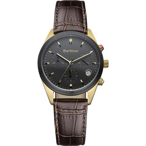 バブアー 腕時計 リドリー BB012GDBR ブラック×ブラウンレザーベルト