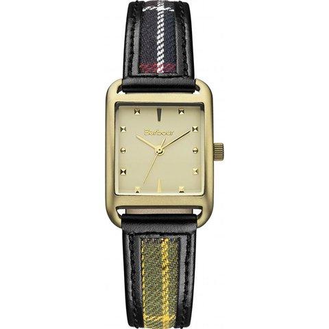 バブアー 腕時計 ドライデン BB013GDTR ゴールド×ブラックレザー×マルチファブリック
