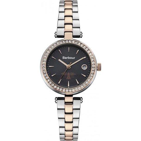 バブアー 腕時計 エムリン BB014RSSL ブラック×ツートンベルト