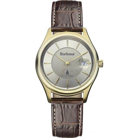 バブアー 腕時計 ヒートン BB016GDBR ゴールド×ブラウンレザーベルト