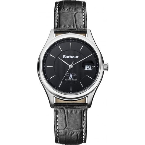 バブアー 腕時計 ヒートン BB016SLBK ブラック×ブラックレザーベルト