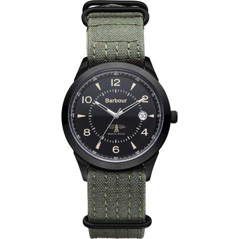バブアー 腕時計 リドリー BB017BKGR ブラック×グリーンファブリック