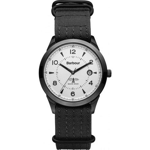 バブアー 腕時計 リドリー BB017GNBK ホワイト×ブラックファブリック
