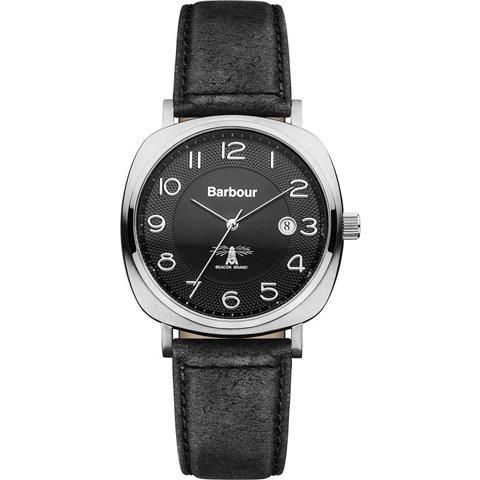 バブアー 腕時計 ビーコン BB018SLBK ブラック×ブラックレザーベルト
