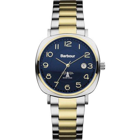バブアー 腕時計 ビーコン BB018SLTT ネイビーブルー×ツートンベルト