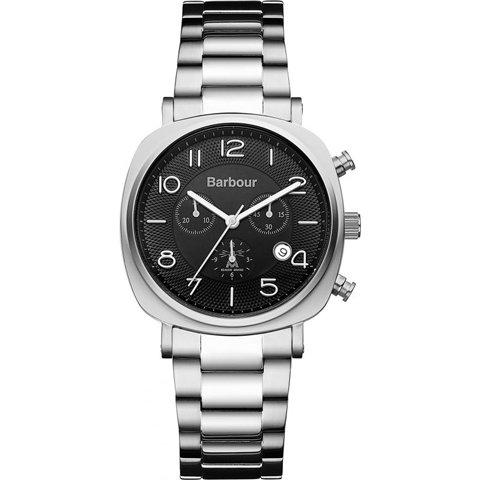 バブアー 腕時計 ビーコン BB019SL ブラック×ステンレススチールベルト