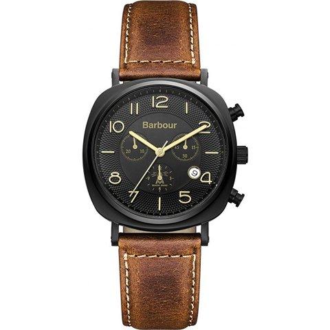 バブアー 腕時計 ビーコン BB019BKTN ブラック×ブラウンレザーベルト