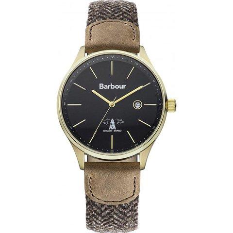 バブアー 腕時計 グリスデール BB021GDHB ブラック×ブラウンファブリック