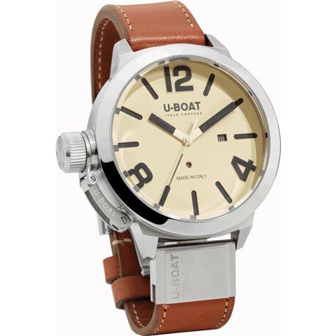 ユーボート 腕時計 クラシコ 53 U7121 クリーム×ブラウンレザーベルト