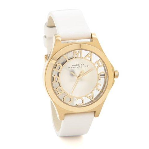 マークバイマークジェイコブス 腕時計 レディース ヘンリースケルトン MBM1339 ゴールド×ホワイトレザーベルト