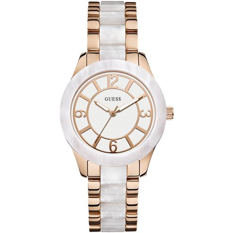 ゲス 腕時計 レディース ゴッデス W0074L2 ホワイト×ツートン