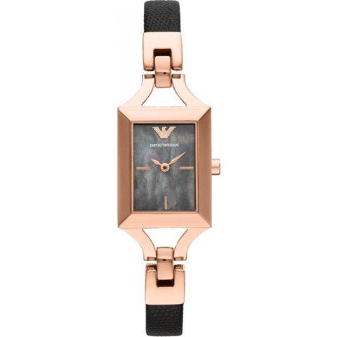 エンポリオアルマーニ 腕時計 レディース キアラ AR7373 ブラック×ローズゴールド