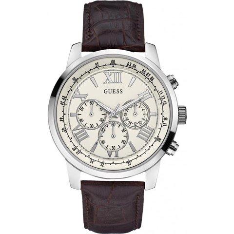 ゲス 腕時計 メンズ ホライズン W0380G2 ホワイト×ブラウン