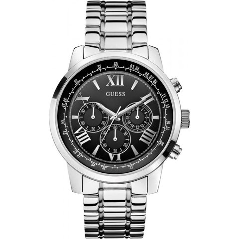 ゲス 腕時計 メンズ ホライズン W0379G1 ブラック×シルバー