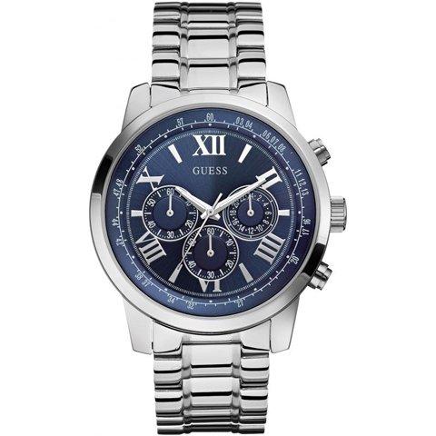ゲス 腕時計 メンズ  ホライズ  W0379G3 ブルー×シルバー