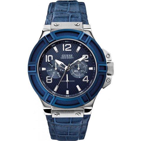 ゲス 腕時計 メンズ リガー W0040G7 ブルー×ブルー