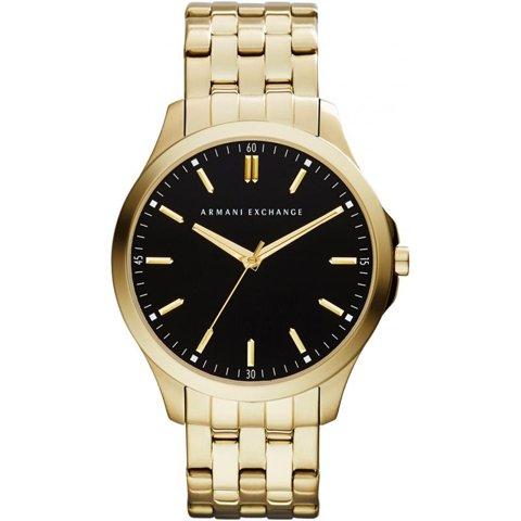 アルマーニエクスチェンジ 腕時計 メンズ ハンプトンLP AX2145  ブラック×ゴールド